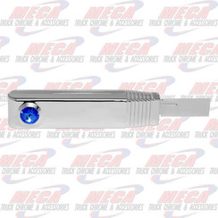 TURN SIGNAL SWITCH HANDLE PLASTIC CHROME BLUE