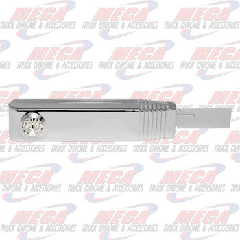 TURN SIGNAL SWITCH HANDLE PLASTIC CHROME CLEAR