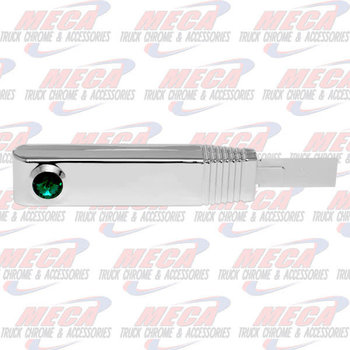 TURN SIGNAL SWITCH HANDLE PLASTIC CHROME GREEN