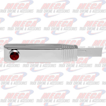 TURN SIGNAL SWITCH HANDLE PLASTIC CHROME RED