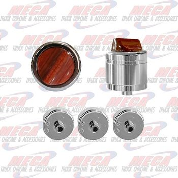 A/C HEATER CONTROL KNOBS PB & KW SET OF 3 ROSEWOOD