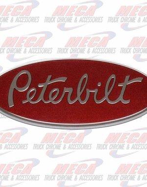 """SIDE EMBLEM PETERBILT LOGO RED 8"""" SIDE & FRONT OF HOOD"""