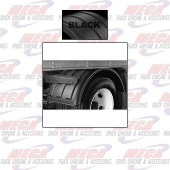 "FENDER 1 AXLE 19.5""  WHEEL POLY BLACK SET OF 2"