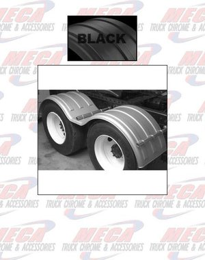 SIDE FENDER DOUBLE AXLE POLY BLACK SET OF 2