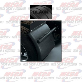 QTR FENDER 1/4 POLY PLASTIC BLACK SET OF 2 MINIMIZER