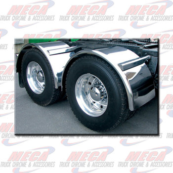 SINGLE AXLE FENDER SMOOTH  S/S 16 GAUGE PAIR