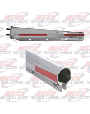 REAR MUDFLAP HOLDER CHROME POINTED W/ REFLECTOR
