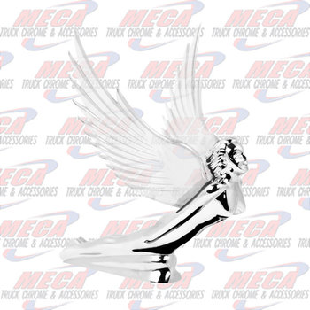 HOOD ORNAMENT GODDESS FLYING CLEAR WINGS
