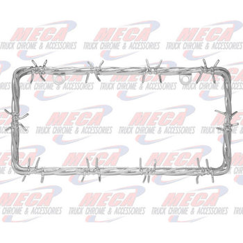 LICENSE PLATE FRAME BARBWIRE