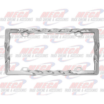 LICENSE PLATE FRAME TWIST
