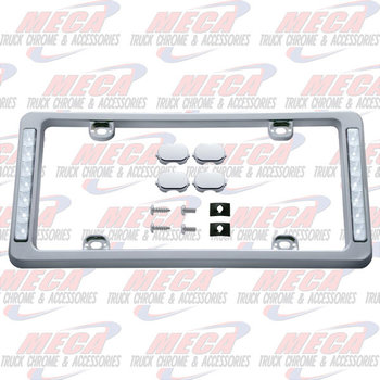 LICENSE PLATE FRAME W/ WHITE BACK UP LIGHTS
