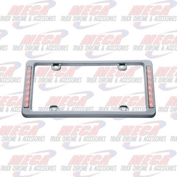 LICENSE PLATE FRAME W/ RED STOP & TAIL LTS