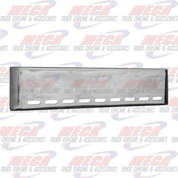 VALLEY CHROME BUMPER UNIV 22'' ROLLED W/ 9 OVAL LT HOLES BLIND MO