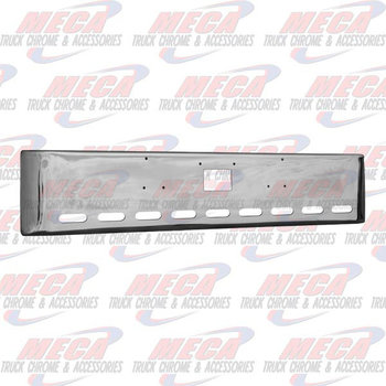 VALLEY CHROME BUMPER PB 379 18'' 9 OVALS & TOW HOLE