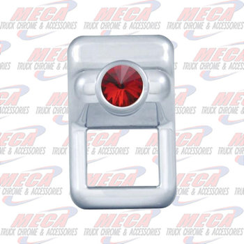 ROCKER SW COVER SMALL  RED VOLVO VN & VT