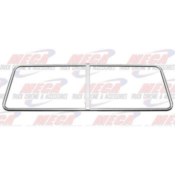 WINDSHIELD TRIM COVER S/S KW FLAT WINDSHIELD ONLY