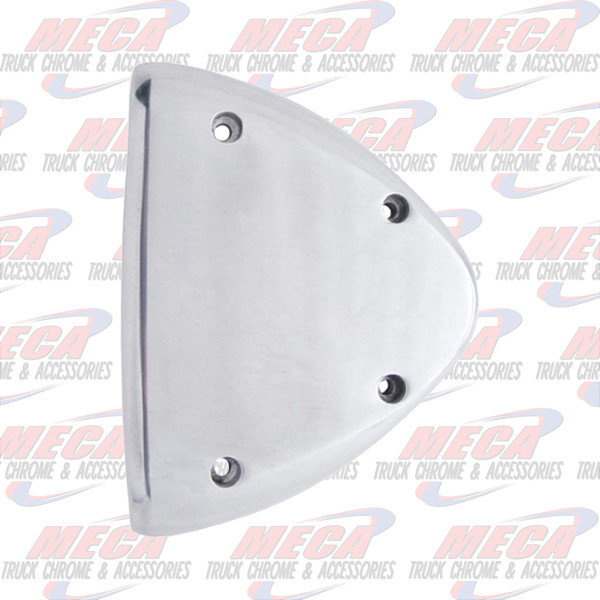 FRONT HEADLIGHT TURN SIGNAL END COVER PB ALUMINUM