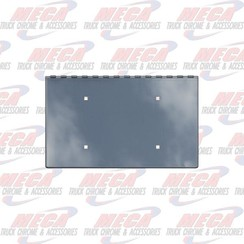 TOW PIN COVER PB W/1 LICENSE TAG PLATE HOLDER COVERED SIDES