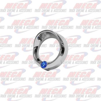 GAUGE BEZEL SMALL FL CENTURY BLUE JEWEL W/ VISOR