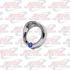 SMALL GAUGE CVR W/ BLUE JEWEL & VISOR FL KW