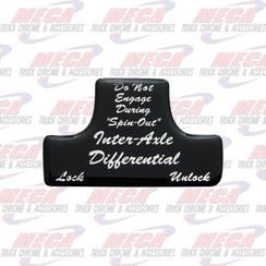 SWITCH GUARD STICKER FL BLACK AXLE/DIFFERENTIAL