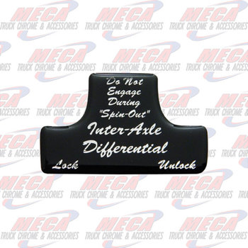 SWITCH GUARD STICKER FL BLACK AXLE/DIFFERENTIAL