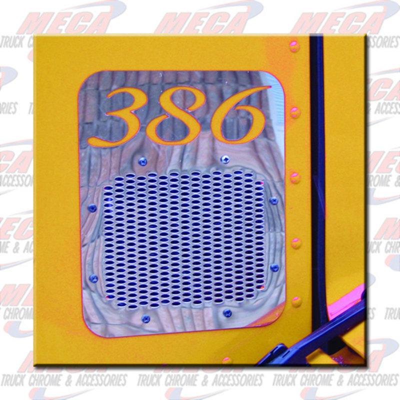 AIR INTAKE COVER GRILL PB 386 W/LOGO