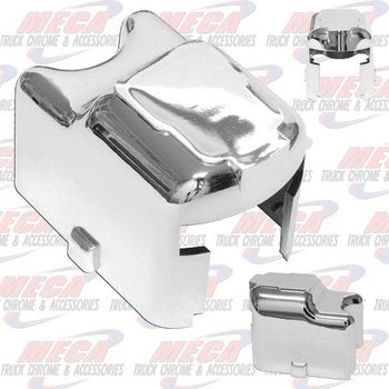 TURN SIGNAL SWITCH COVER CHROMED SNAP ON STYLE