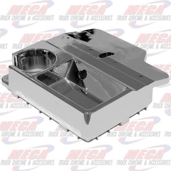CHROME CONSOLE BOX TOP KW & CUP HOLDER