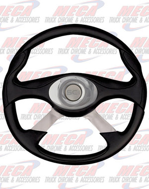 INSIDE STEERING WHEEL 18'' GENESIS 4 SPOKE CHROME OVAL PAD