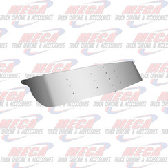 "VISOR DROP KW CURVED WINDSHIEL 14"" PLAIN S/S 90-06"