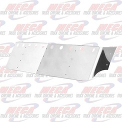 "VISOR DROP FL CENTURY W/ 10 LT HOLES SS 18"" 98-04 (2 SIDE BOLTS)"