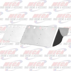 "VISOR DROP FL CENTURY 04+ W/ 10 LT HOLES SS 18"" (2 SIDE BOLTS)"
