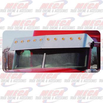 """VISOR DROP IHC 9900i S/S 15"""" W/10-2"""" LGTS & BEZELS"""