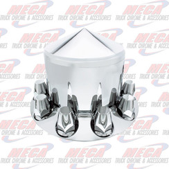 REAR AXLE COVER PLASTIC 33MM CHROME EA - POINTED