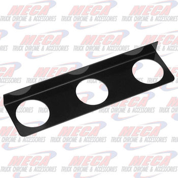 "LIGHT BRACKET BLACK 3- 2.5"" HOLES"