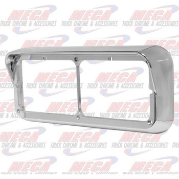 CHROME HDLT BEZEL 2 LIGHT RECT W/ VISOR