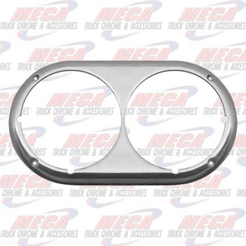 HEADLAMP BEZEL PB DUAL RND OLD STYLE POLISHED ALUM