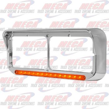 HEADLIGHT BEZEL PSNGR W/ SEQUENTIAL LED AMBER