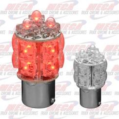 LED BULB 1156 360DE RED ONE FUNCTION 13 LED