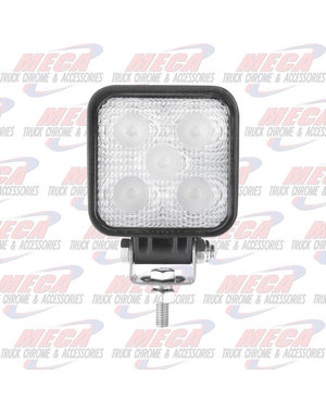 """FRONT FOG LIGHT SMALL 3"""" SQUARED WITH BRACKET & SCREW"""