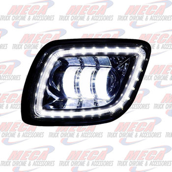 ** REPLACED BY LFO4509 ** FOG LIGHT FL CASCADIA BLACK LED DVR SIDE 2008-2017