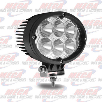 FOG LIGHT OVAL SUPER BRIGHT 5400 LUMENS / 6 DIODES