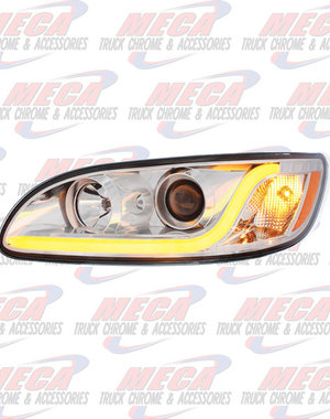 FRONT HEADLIGHT HOUSING PB 386/387 DRIVER SIDE CHROME W/LED