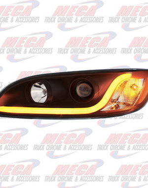 FRONT HEADLIGHT HOUSING PB 386/387 DRIVER SIDE BLACK W/LED