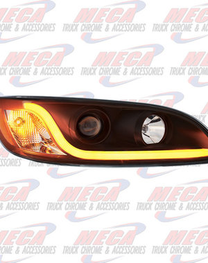 FRONT HEADLIGHT HOUSING PB 386/387 PASSENGER SIDE BLACK W/LED