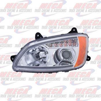 HEADLIGHT ASSEMBLY KW T660 T700 PASSENGER SIDE CHROME PROJECTOR
