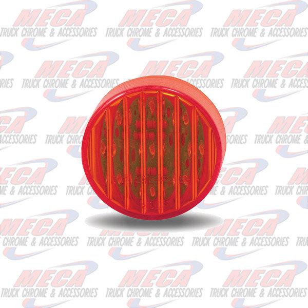 MARKER LIGHTS 2'' LED RED 9 DIODES MARKER CLEARANCE LIGHT RIBBED