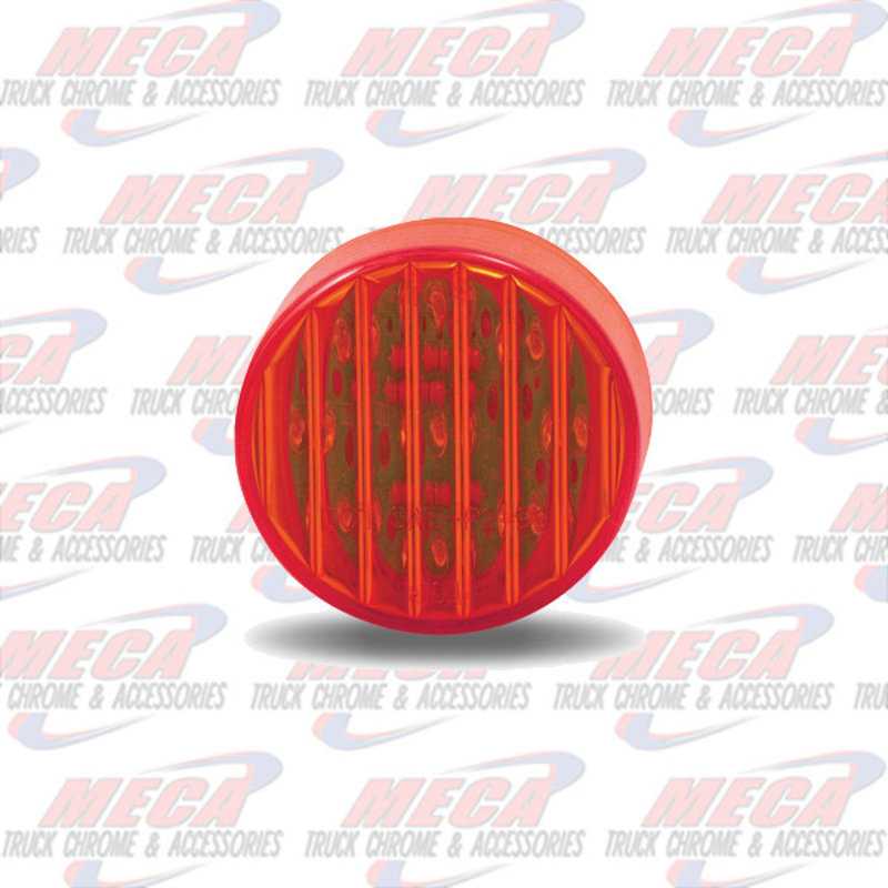 2'' LED RED 9 DIODES MARKER CLEARANCE LIGHT RIBBED