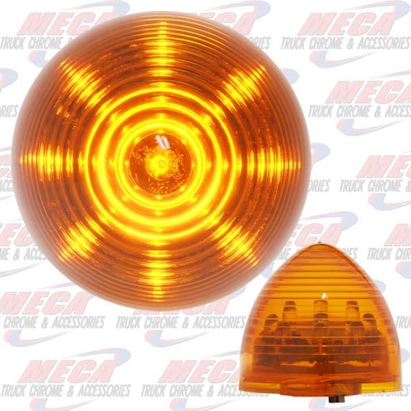MARKER LIGHTS 2'' LED AMBER BEEHIVE 9 DIODES MARKER LIGHT